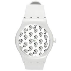 Fish Ikan Piranha Round Plastic Sport Watch (M)