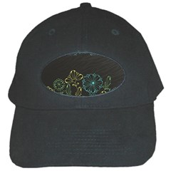 Elegant Floral Flower Rose Sunflower Black Cap