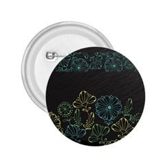 Elegant Floral Flower Rose Sunflower 2.25  Buttons