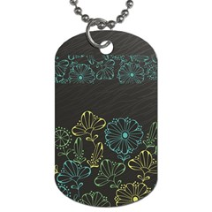 Elegant Floral Flower Rose Sunflower Dog Tag (One Side)