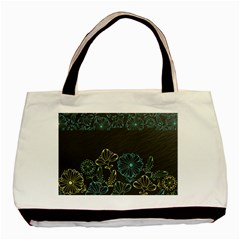 Elegant Floral Flower Rose Sunflower Basic Tote Bag (Two Sides)