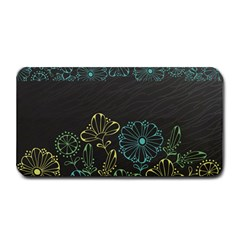 Elegant Floral Flower Rose Sunflower Medium Bar Mats