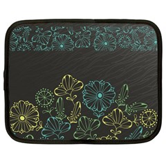 Elegant Floral Flower Rose Sunflower Netbook Case (XL)