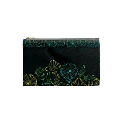 Elegant Floral Flower Rose Sunflower Cosmetic Bag (Small)