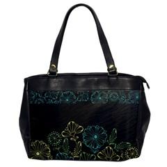 Elegant Floral Flower Rose Sunflower Office Handbags