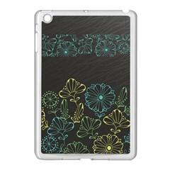 Elegant Floral Flower Rose Sunflower Apple iPad Mini Case (White)