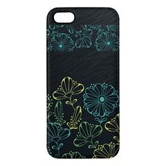 Elegant Floral Flower Rose Sunflower Apple iPhone 5 Premium Hardshell Case