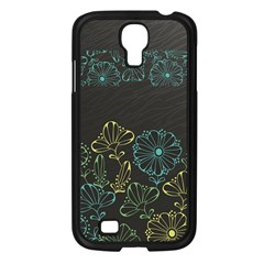 Elegant Floral Flower Rose Sunflower Samsung Galaxy S4 I9500/ I9505 Case (Black)