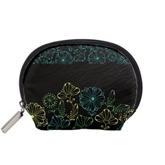 Elegant Floral Flower Rose Sunflower Accessory Pouches (Small)
