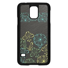Elegant Floral Flower Rose Sunflower Samsung Galaxy S5 Case (Black)