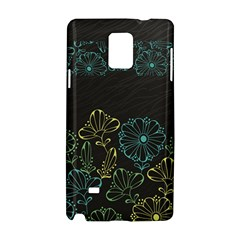 Elegant Floral Flower Rose Sunflower Samsung Galaxy Note 4 Hardshell Case
