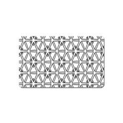 Flower Black Triangle Magnet (Name Card)