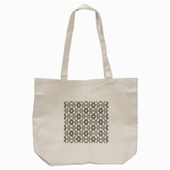 Flower Black Triangle Tote Bag (Cream)