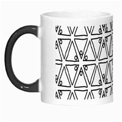 Flower Black Triangle Morph Mugs