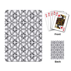 Flower Black Triangle Playing Card