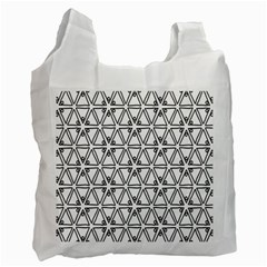 Flower Black Triangle Recycle Bag (Two Side)