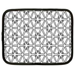 Flower Black Triangle Netbook Case (XXL)