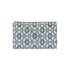 Flower Black Triangle Cosmetic Bag (Small)