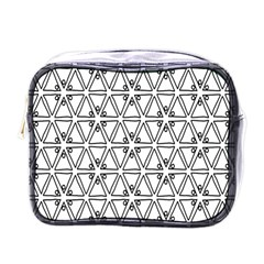 Flower Black Triangle Mini Toiletries Bags
