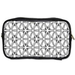 Flower Black Triangle Toiletries Bags 2-Side
