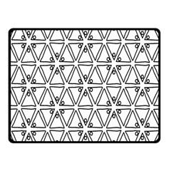 Flower Black Triangle Fleece Blanket (Small)