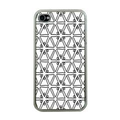 Flower Black Triangle Apple iPhone 4 Case (Clear)