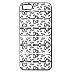 Flower Black Triangle Apple iPhone 5 Seamless Case (Black)