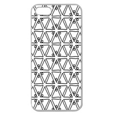 Flower Black Triangle Apple Seamless iPhone 5 Case (Clear)
