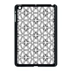 Flower Black Triangle Apple iPad Mini Case (Black)