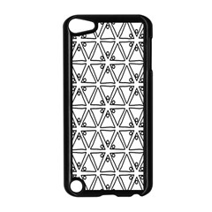 Flower Black Triangle Apple iPod Touch 5 Case (Black)