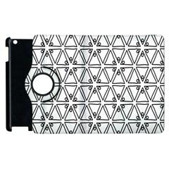 Flower Black Triangle Apple iPad 3/4 Flip 360 Case