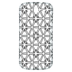 Flower Black Triangle Samsung Galaxy S3 S III Classic Hardshell Back Case