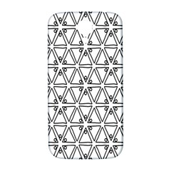 Flower Black Triangle Samsung Galaxy S4 I9500/I9505  Hardshell Back Case