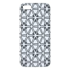 Flower Black Triangle iPhone 5S/ SE Premium Hardshell Case