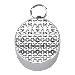 Flower Black Triangle Mini Silver Compasses