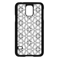Flower Black Triangle Samsung Galaxy S5 Case (Black)