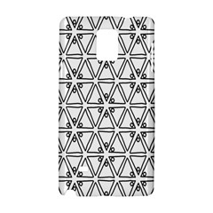 Flower Black Triangle Samsung Galaxy Note 4 Hardshell Case