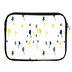Flower Floral Yellow Blue Leaf Apple iPad 2/3/4 Zipper Cases