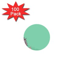 Flower Floral Green 1  Mini Buttons (100 pack)