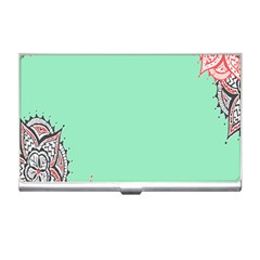 Flower Floral Green Business Card Holders