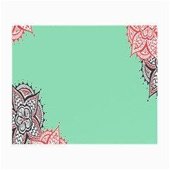Flower Floral Green Small Glasses Cloth