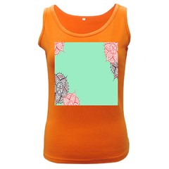 Flower Floral Green Women s Dark Tank Top