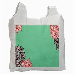 Flower Floral Green Recycle Bag (One Side)