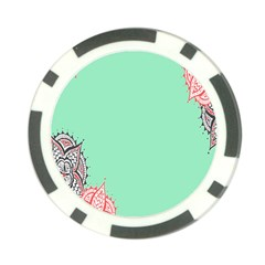 Flower Floral Green Poker Chip Card Guard (10 pack)