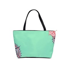Flower Floral Green Shoulder Handbags