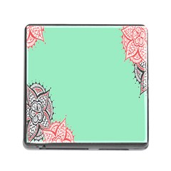 Flower Floral Green Memory Card Reader (Square)
