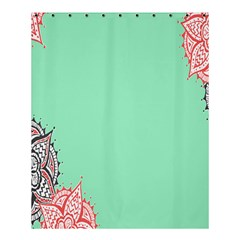 Flower Floral Green Shower Curtain 60  x 72  (Medium)