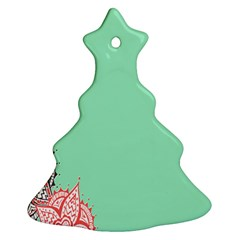 Flower Floral Green Ornament (Christmas Tree)