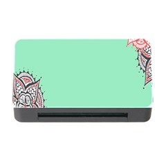 Flower Floral Green Memory Card Reader with CF