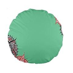 Flower Floral Green Standard 15  Premium Round Cushions